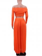 Off The Shoulder Top Maxi Skirt Women Suit