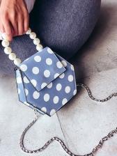 Vintage Polka Dots Pearl Handle Handbag