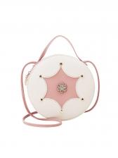 Fashion Rivets Star Round Crossbody Bag