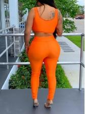 Fashion Solid Color Sport Wear Sets