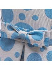 Lovely Dot Printing Girls Summer Dress