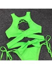Fluorescence Back Cross String Bikini