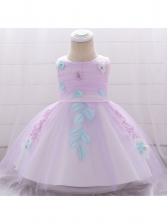 Stylish Gauze Patchwork Baby Girl Dress
