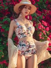 Vintage Print String Bikini Sets