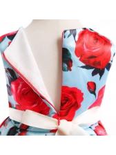 Binding Bow Printed Flower Girl Dresses