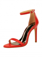 Minimalist Solid Ankle Strap Sandals For Women