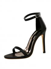 Simple Design Solid Ankle Strap Sandals
