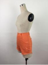 High Waist Worn Out Women Denim Short Pants