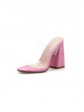PVC Snake Print Pink Women Slippers