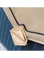 Color Block Striped Square Crossbody Bag