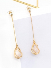 Chic Opal Long Earrings For Women