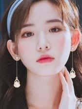 Chic Opal Long Earrings For Women