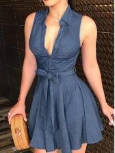 Sexy Low-Cut Tunic Sleeveless Dress