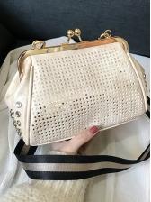 Korean Hollow Out Striped Strap Shoulder Bag