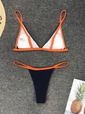 Sexy Contrast Color Micro Biniki For Women