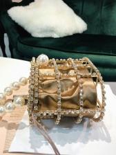 Korean Style Artificial Diamond Pearl Evening Handbags