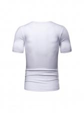 Fashion Smoking Man Print Crew Neck T-shirt
