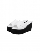 Fashion Cross Strap Wedge Slippers For Women