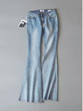 High Waist Skinny Denim Flare Long Ladies Pants