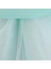 Sweet Studded Gauze Patchwork Girls Sleeveless Dress