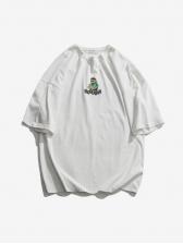 Ins Crew Neck Cartoon Printed Short Sleeve T-shirt
