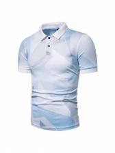 Fashion Contrast Color Polo Shirt