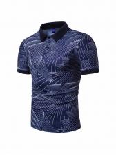 Hot Sale Wave Printed Short Sleeve Shirt