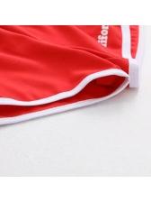 Euro Style Printed Print Yoga Short Pants