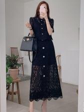 Fashion Lace Skirt 2 Pieces Sets