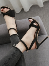 Solid Butterfly Bow Matching Heeled Sandals