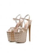 Euro Style Diamond Platform Stiletto Heels