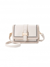 French Romantic Contrast Color Square Shoulder Bag
