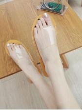 Casual Round Toe PVC Beach Slippers