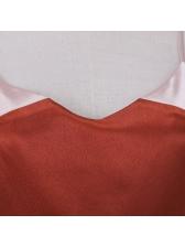 Contrast Color V Neck Strap Midi Dresses
