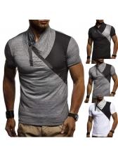 Summer Heap Collar Colorblock Mens Tee