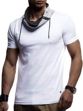 Heap Collar Colorblock Fitted Tee For Men