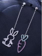 Simple Design Rabbit Carrot Earrings