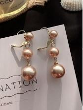 Easy Matching Pearl Long Earrings