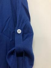Simple Style Round Collar Short Sleeve Dress