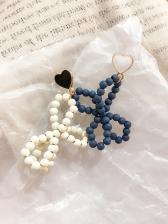 Handmade Beads Hollow Out Butterfly Asymmetric Earrings