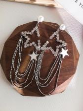 Incomplete Five-pointed Star Tassel Earrings