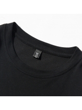 Simple Design Printed Cotton Tee For Men