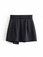Fashion Striped Irregular Short A-Line Skirt