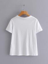 Euro Style Rhinestone Printed T-shirt Design