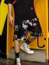 Hip-hop Printed Short Pants For Men