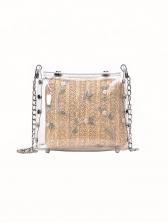 Cartoon Elephant Transparent Metal Chain Shoulder Bag