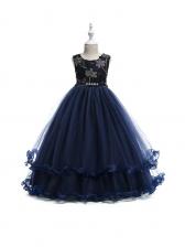 Beading Decor Lace Princess Girl Dress