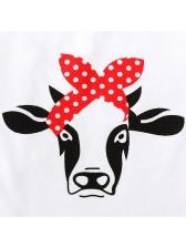 Cow Printed Polka Dots Overall Girl Two Sets