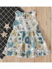Leisure Sleeveless Floral Girl Dress