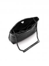 Simple Style Soft Leather Metal Chain Ladies Handbag